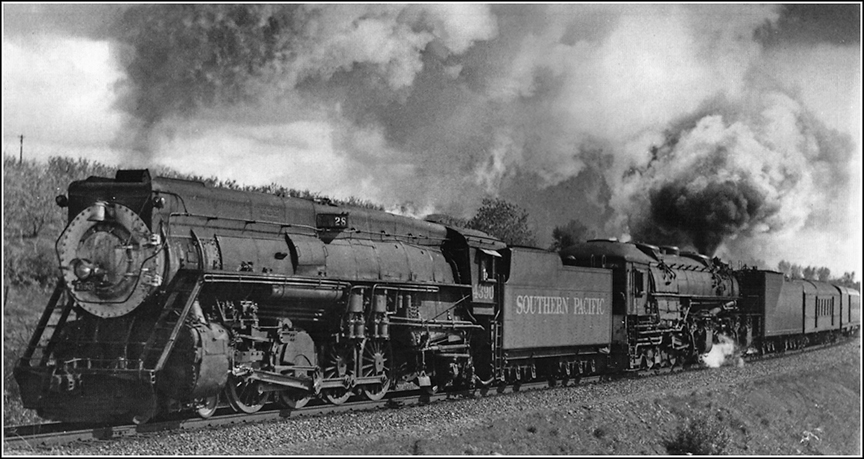 Image result for southern pacific steam trains in the mountains